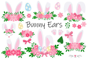Easter Bunny Ears. Bunny Face. Bunny SVG Graphic Illustrations By shishkovaiv