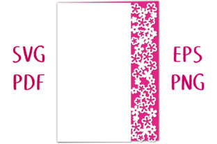 Elderflower Lace Edged Card SVG Cut File Graphic 3D SVG By Nic Squirrell