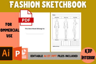 Print on Demand: Fashion Sketchbook | KDP Interior Graphic KDP Interiors By Cool Worker