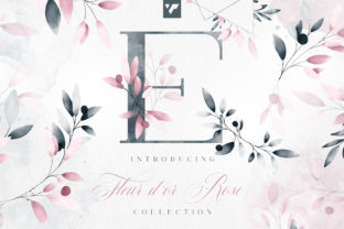 Print on Demand: Fleur D'or Rose Graphic Collection Gráfico Ilustraciones Por vladfedotovv