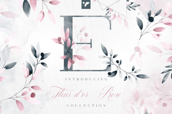 Print on Demand: Fleur D'or Rose Graphic Collection Graphic Illustrations By vladfedotovv