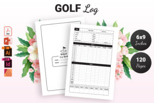 Print on Demand: Golf Log Book - KDP Interior Graphic KDP Interiors By KDP Ninja
