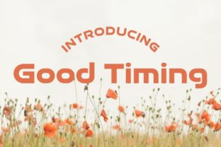 Print on Demand: Good Timing - Bold Sans Serif Font By Typodermic