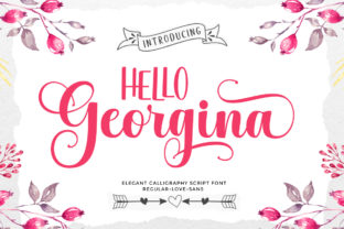 Print on Demand: Hello Georgina Manuscrita Fuente Por LetterFreshStudio