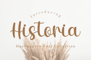 Print on Demand: Historia Script & Handwritten Font By Guritatype