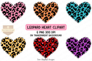 Print on Demand: Leopard Heart Clipart Sublimation Graphic Illustrations By SineDigitalDesign