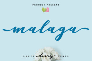 Print on Demand: Malaga Script & Handwritten Font By SiwoxS