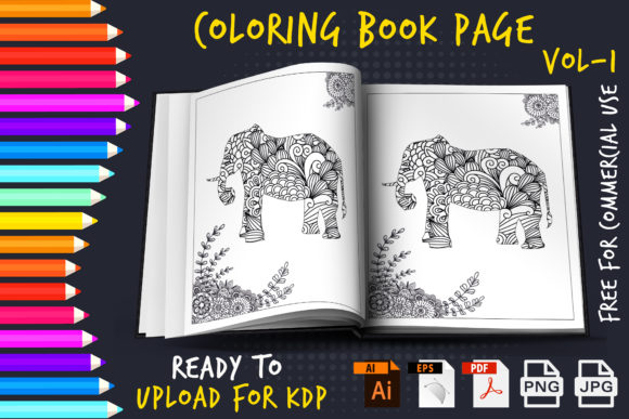 Mandala Animal - Coloring Book Pages KDP Grafik KPD Innenseiten von Golam Kader Riad