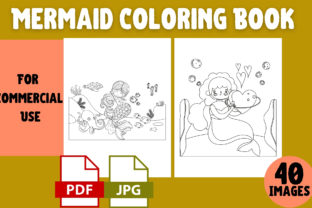 Print on Demand: Mermaid Coloring Book | KDP Interior Graphic Coloring Pages & Books Kids By Cool Worker