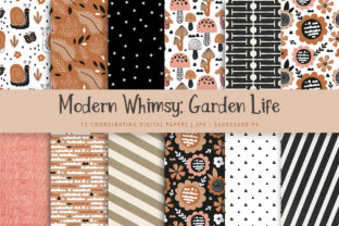 Print on Demand: Modern Whimsy Garden Life Paper Pack Graphic Patterns By Jennadesigns