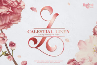 Print on Demand: Monogram Calestial Linen Decorative Font By Hydric Design