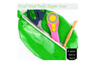 Oval – Vinyl Poofy Zipper Case in the Hoop Accessories Embroidery Design By Sookie Sews