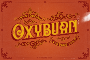 Print on Demand: Oxyburn Display Font By typealiens