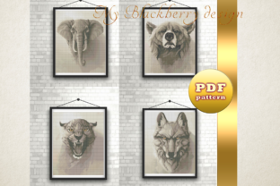 Print on Demand: Pattern Cross Stitch Wild World, Puma Graphic Cross Stitch Patterns By talanpluss