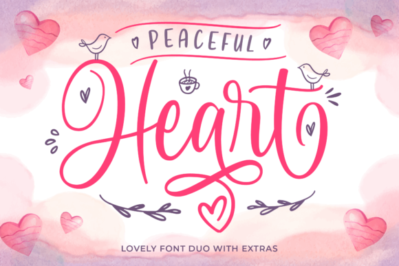 Print on Demand: Peaceful Heart Script & Handwritten Font By IklazStudio