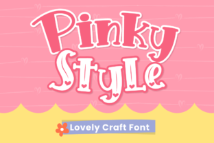 Print on Demand: Pinky Style Display Font By attypestudio 1