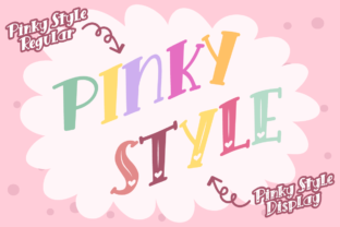 Print on Demand: Pinky Style Display Font By attypestudio 5