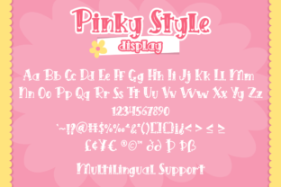 Print on Demand: Pinky Style Display Font By attypestudio 6