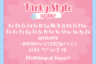Print on Demand: Pinky Style Display Font By attypestudio 7