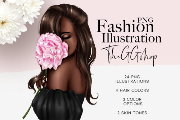 Print on Demand: Planner Girl Clipart Graphic Illustrations By TheGGShop