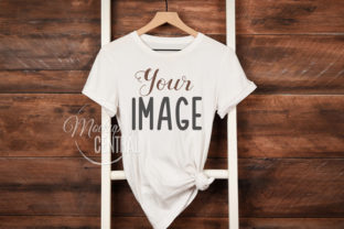 Rustic T-Shirt Shirt Mockup on Hanger Graphic Product Mockups By Mockup Central