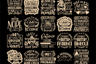 Print on Demand: Sarcastic Quotes SVG, Sassy Svg Cut File Graphic Crafts By TonisArtStudio 2