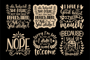 Print on Demand: Sarcastic Quotes SVG, Sassy Svg Cut File Graphic Crafts By TonisArtStudio 3
