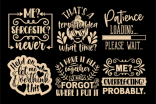 Print on Demand: Sarcastic Quotes SVG, Sassy Svg Cut File Graphic Crafts By TonisArtStudio 4