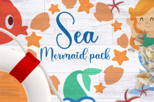 Sea Mermaid Pack Graphic Illustrations By Firefly Designs 1
