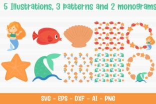 Sea Mermaid Pack Graphic Illustrations By Firefly Designs 2
