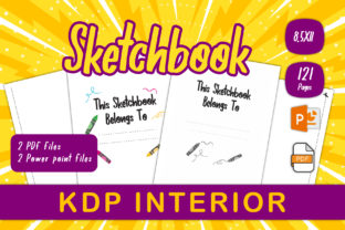 Print on Demand: Sketchbook for Kids to KDP Interior Graphic KDP Interiors By IsaraDesign
