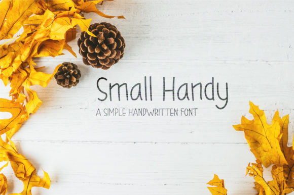Print on Demand: Small Handy Script & Handwritten Font By salamahdesigns