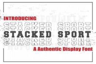 Print on Demand: Stacked Sport Display Font By KtwoP 1