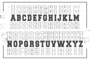 Print on Demand: Stacked Sport Display Font By KtwoP 2
