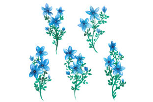 Star Lily Watercolor Graphic Web Elements By Monogram Lovers