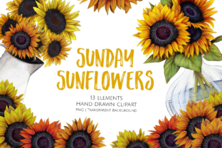 Print on Demand: Sunday Sunflowers Graphic Illustrations By Jessaox
