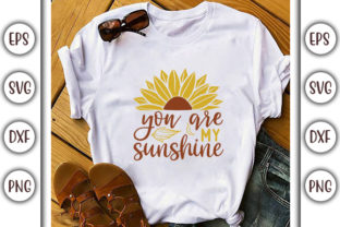 Print on Demand: Sunflower Quotes Design, You Are My Graphic Print Templates By GraphicsBooth