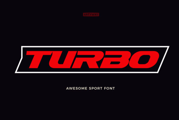 Print on Demand: Turbo Display Font By artyway