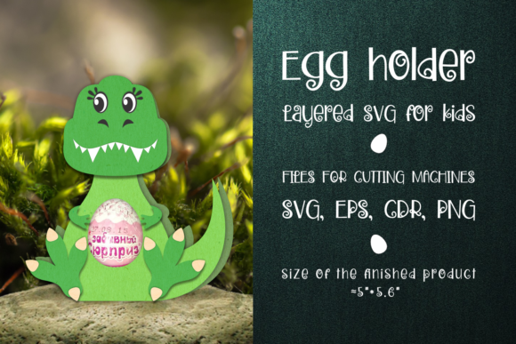 Print on Demand: Tyrannosaurus-Chocolate Egg Holder SVG Graphic 3D SVG By Olga Belova