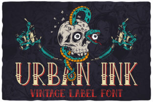 Print on Demand: Urban Ink Serif Font By Vozzy Vintage Fonts And Graphics