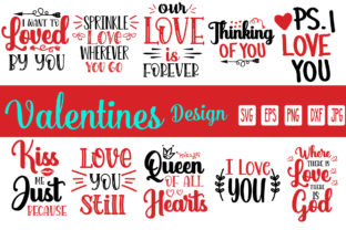 Print on Demand: Valentine's Day Bundle Graphic Print Templates By printSVG