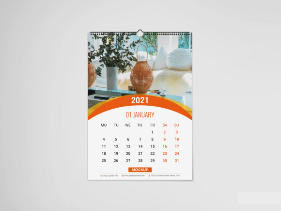 Wall Calendar Mockup Graphic Product Mockups By VectorRiver