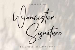 Print on Demand: Wancester Signature Script & Handwritten Font By AbasCreative