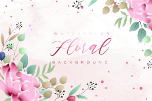 Print on Demand: Watercolor Floral Graphics Graphic Graphic Templates By Dzyneestudio