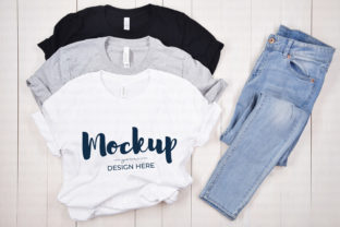 White, Gray, Black Tshirt Mock Up Graphic Product Mockups By MyMockupStudio
