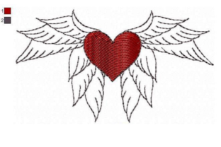 Winged Heart Valentine's Day Embroidery Design By EmbDesigns