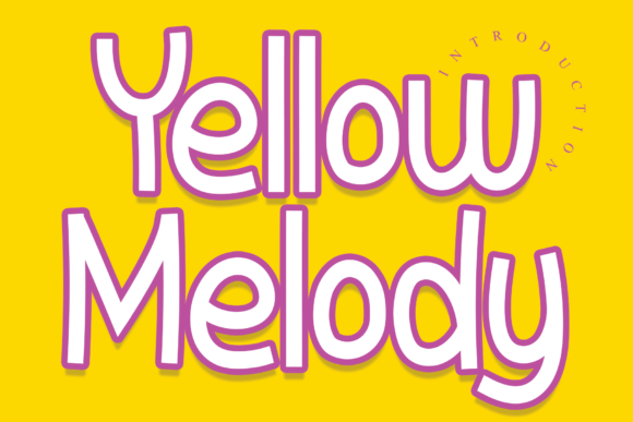 Print on Demand: Yellow Melody Display Font By Roronoa zoro.S.P.D
