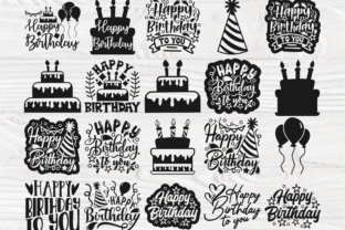 Print on Demand: 20 Happy Birthday SVG Files for Cricut Graphic Crafts By TonisArtStudio