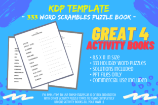 Print on Demand: 333 Word Scramble Puzzles Activity Book Graphic KDP Interiors By Tomboy Designs