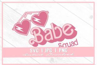 Print on Demand: 90s Babe Squad Heart Doll Bachelorette Graphic Illustrations By thecouturekitten